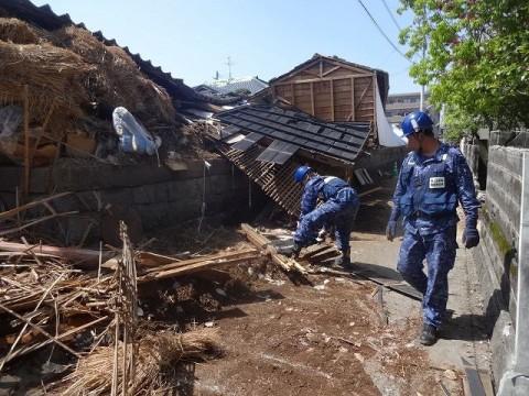 熊本地震への災害派遣(機動施設隊(八戸))04