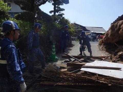 熊本地震への災害派遣(機動施設隊(八戸))05