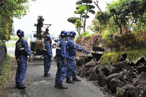 熊本地震への災害派遣(機動施設隊(八戸))09