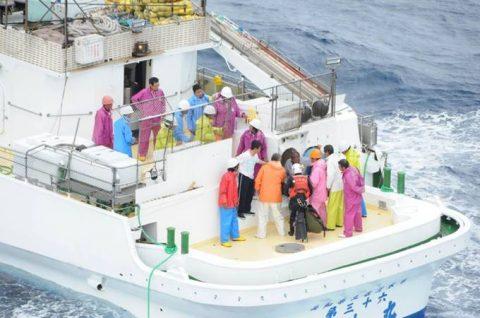 海上自衛隊 館山航空基地 第21航空群 漁船乗員の洋上における救難no2