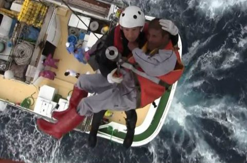海上自衛隊 館山航空基地 第21航空群 漁船乗員の洋上における救難no4