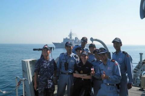 海上自衛隊 イギリス海軍との親善訓練No7