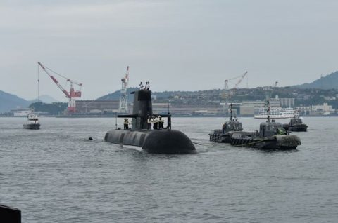 防衛省海上自衛隊オーストラリア海軍 潜水艦RANKIN呉基地入港no1
