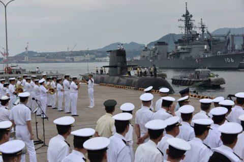 防衛省海上自衛隊オーストラリア海軍 潜水艦RANKIN呉基地入港no2