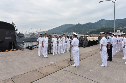 防衛省海上自衛隊オーストラリア海軍 潜水艦RANKIN呉基地入港no3