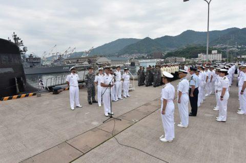 防衛省海上自衛隊オーストラリア海軍 潜水艦RANKIN呉基地入港no5