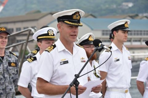 防衛省海上自衛隊オーストラリア海軍 潜水艦RANKIN呉基地入港no6