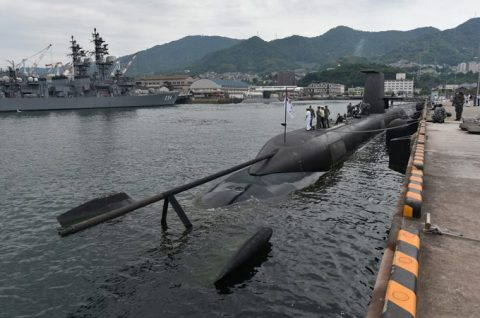 防衛省海上自衛隊オーストラリア海軍 潜水艦RANKIN呉基地入港no7