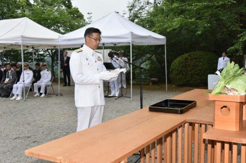 防衛省 海上自衛隊 第65回掃海殉職者追悼式05