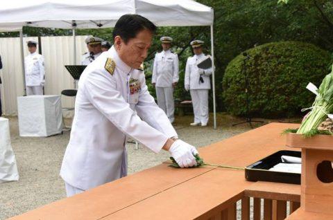 防衛省 海上自衛隊 第65回掃海殉職者追悼式08