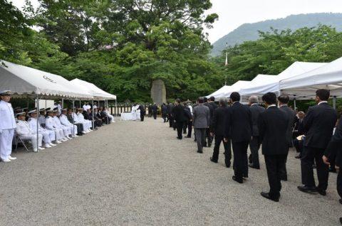 防衛省 海上自衛隊 第65回掃海殉職者追悼式09