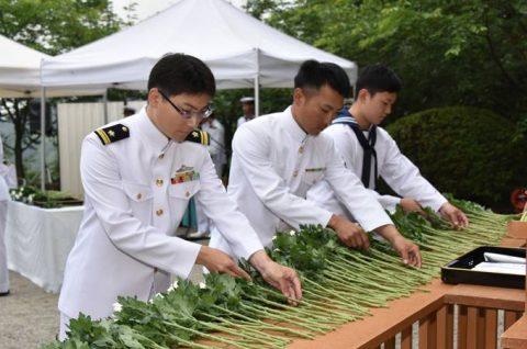 防衛省 海上自衛隊 第65回掃海殉職者追悼式10