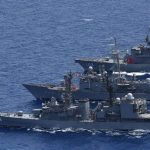 海自 海賊対処 水上部隊(24次)12 スペイン海軍及びトルコ海軍との共同訓練