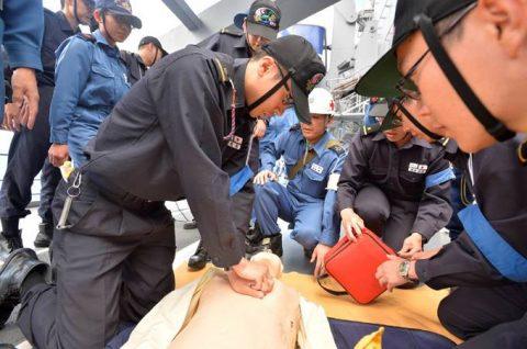 平成28年度 海上自衛隊 幹部候補生 遠洋航海4 パールハーバー出港no1