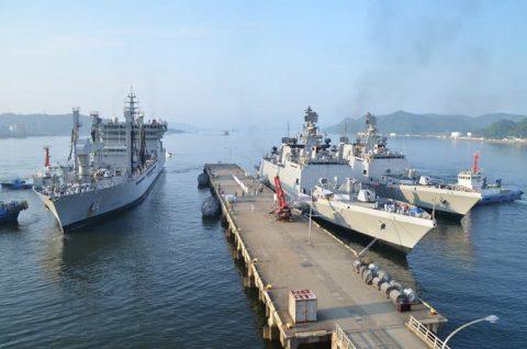 防衛省海上自衛隊 マラバール2016 日本・アメリカ・インド日米印共同訓練No01