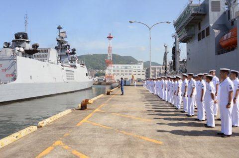 防衛省海上自衛隊 マラバール2016 日本・アメリカ・インド日米印共同訓練No12