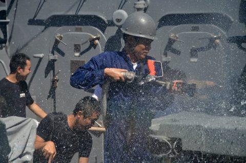 海上自衛隊 ジプチ ソマリア 海賊対処 水上部隊(24次)11ゆうぎりno2