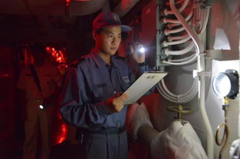 海上自衛隊 ジプチ ソマリア 海賊対処 水上部隊(24次)11ゆうぎりno6