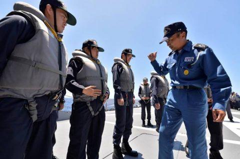 2016年度 海上自衛隊 幹部候補生 遠洋航海(練習艦隊)7訓練No03