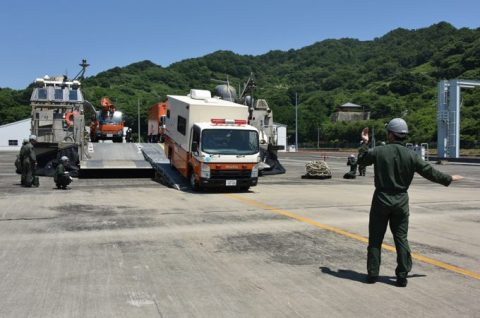 海上自衛隊呉地方総監部と関西電力、中国電力、四国電力、合同訓練no3