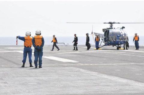 海上自衛隊 インド海軍との親善訓練 護衛艦「ひゅうが」写真no1