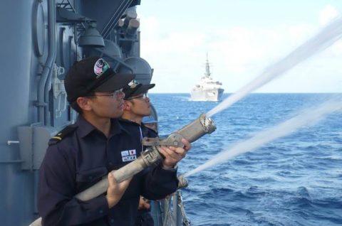 2016年度 海上自衛隊幹部候補生 遠洋航海かしま・せとゆき9No09