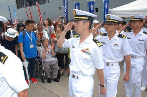 派遣海賊対処行動水上部隊(25次隊)出港行事・護衛艦「いなづま」No03