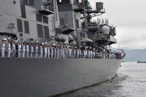 派遣海賊対処行動水上部隊(25次隊)出港行事・護衛艦「いなづま」No05