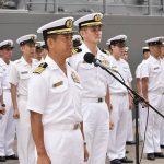 派遣海賊対処行動水上部隊(25次隊)護衛艦「いなづま」出港行事