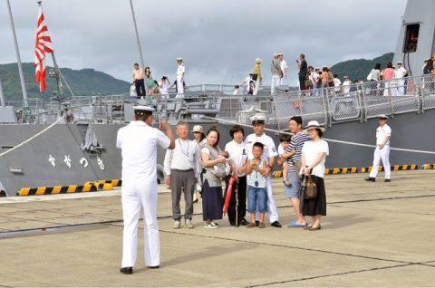 派遣海賊対処行動水上部隊(25次隊)出港行事・護衛艦「いなづま」No07