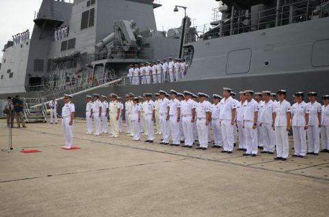 25次派遣海賊対処行動水上部隊2 護衛艦「すずつき」出港行事No2