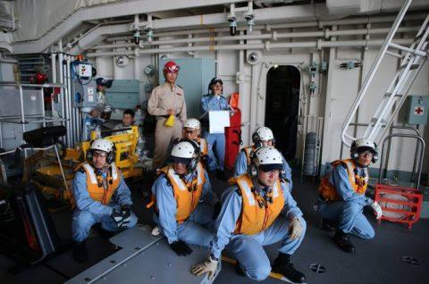 25次派遣海賊対処行動水上部隊2 護衛艦「すずつき」出港行事No5