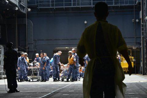 海自RIMPAC2016 ひゅうが人道支援・災害救難訓練2No2