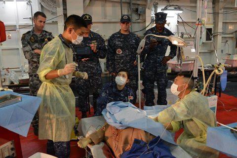 海自RIMPAC2016 ひゅうが人道支援・災害救難訓練2No3