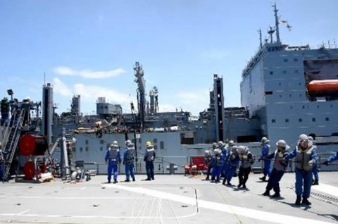海自 パシフィック・パートナーシップ2016 米海軍と訓練No1