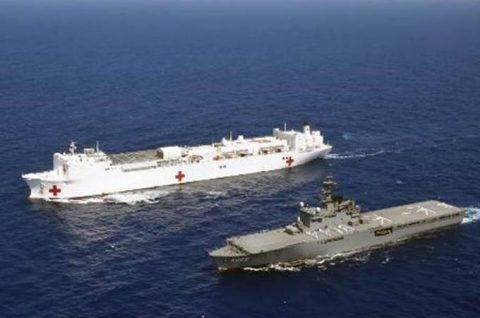 海自 パシフィック・パートナーシップ2016 米海軍と訓練No6
