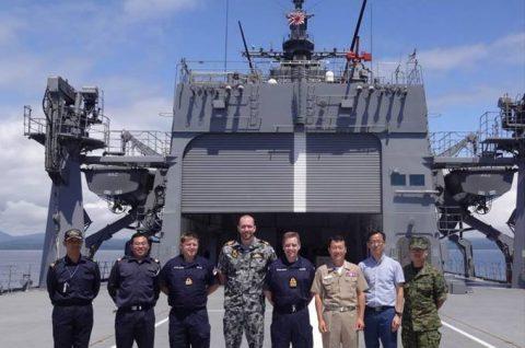 掃海母艦「ぶんご」 機雷戦訓練イギリス、オーストラリア及び韓国No1