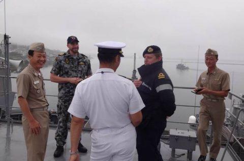 掃海母艦「ぶんご」 機雷戦訓練イギリス、オーストラリア及び韓国No3