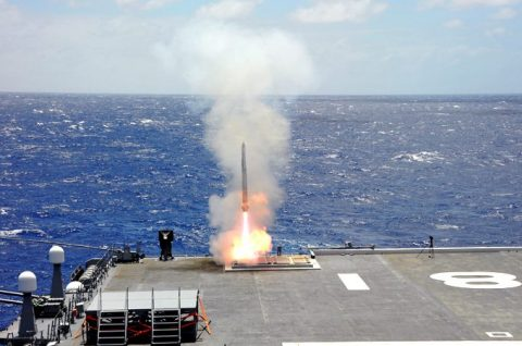 海自RIMPAC2016護衛艦ちょうかい・ひゅうがのミサイル射撃No2