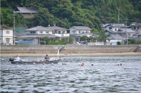 海上自衛隊 幹部候補生 約300名が江田島湾を力泳【遠泳訓練】No4