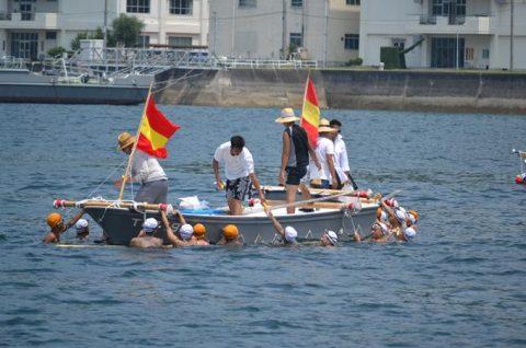 海上自衛隊 幹部候補生 約300名が江田島湾を力泳【遠泳訓練】No5