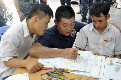 パシフィック・パートナーシップ2016 ベトナム寄港中しもきたNo4
