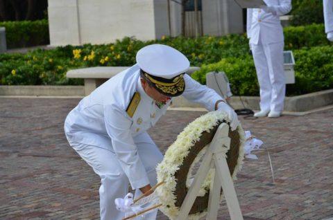海自RIMPAC2016 国立太平洋記念墓地・マキキ日本海軍墓地No1