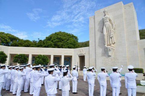 海自RIMPAC2016 国立太平洋記念墓地・マキキ日本海軍墓地No2
