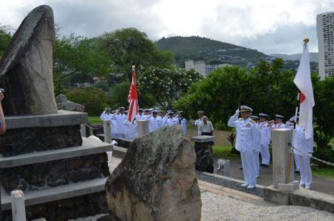 海自RIMPAC2016 国立太平洋記念墓地・マキキ日本海軍墓地No5