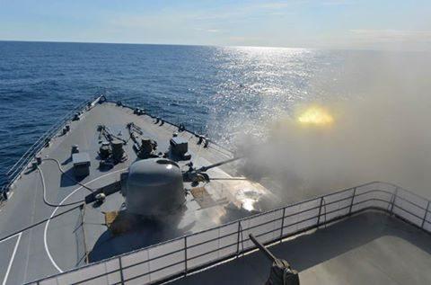 平成28年度 防衛省海自幹部候補生 遠洋練習航海13洋上訓練No1