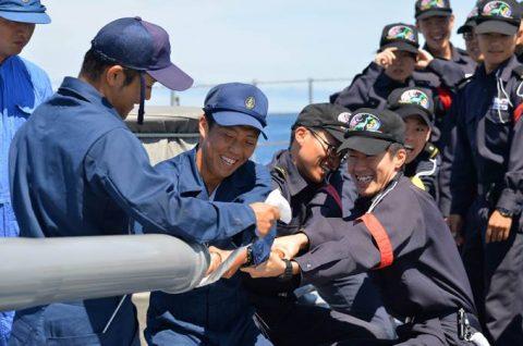 平成28年度 防衛省海自幹部候補生 遠洋練習航海13洋上訓練No2