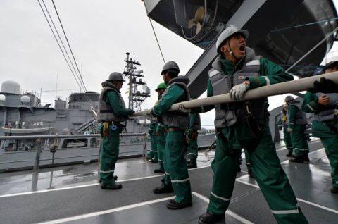 平成28年度 防衛省海自幹部候補生 遠洋練習航海13洋上訓練No3