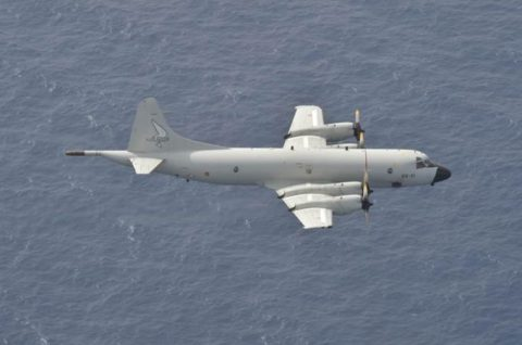 EU海上部隊スペイン空軍P-3Mと海賊対処行動共同訓練(航空隊)No1