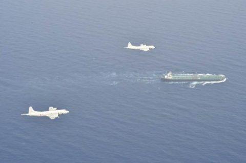 EU海上部隊スペイン空軍P-3Mと海賊対処行動共同訓練(航空隊)No2